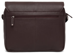 WILDHORN Leather 15 inches Bombay Brown Messenger Bag (MB515) - WILDHORN