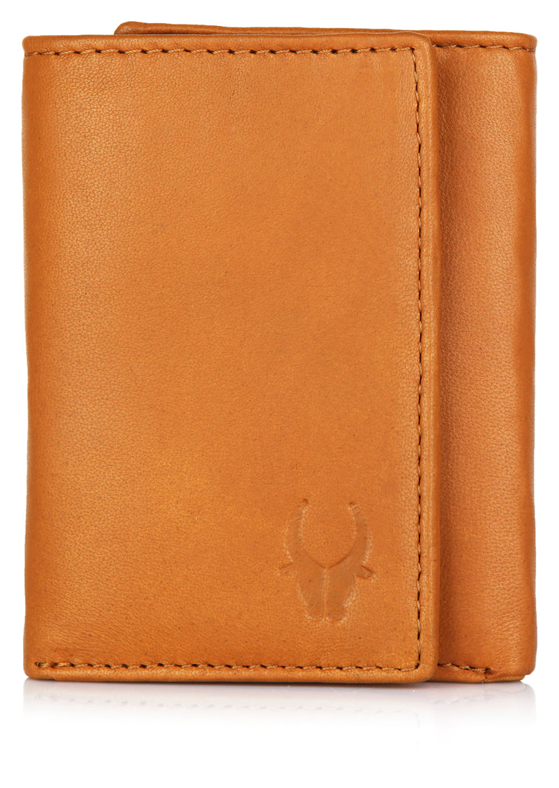 WILDHORN® Slim RFID Wallets for Men - Genuine Leather Front Pocket Trifold Wallet
