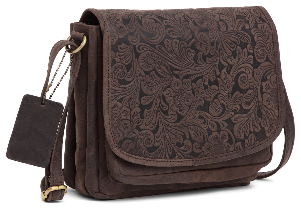 WILDHORN® Oliva Crossbody Bags for Women-Premium Leather Vintage Fashion Purse with Adjustable Strap