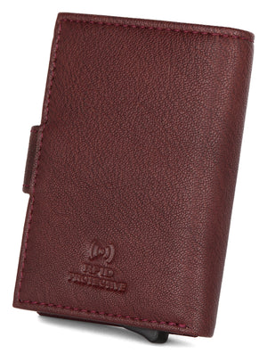 WildHorn® RFID Protected Unisex Genuine Leather Card Holder (Bombay Brown) - WILDHORN