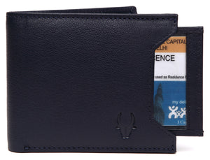 WildHorn® RFID Protected Genuine High Quality Leather Wallet & Pen Combo for Men - WILDHORN