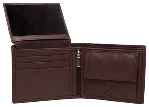 RFID Protected Genuine High Quality Brown Leather Wallet & Classic Belt Combo for Men - WILDHORN