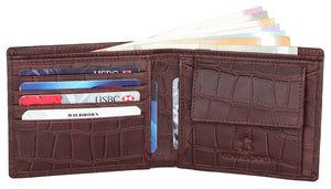 WildHorn® Old River Brown Genuine High Quality RFID Protected Mens Leather Wallet and Belt Combo