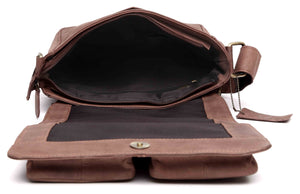 Wildhorn Genuine Hunter Leather Sling bag for Men | Everyday Multipurpose Satchel Messenger Bag(MB231) - WILDHORN