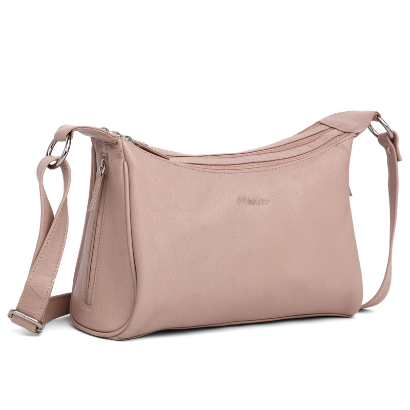 WildHorn® Upper Grain Genuine Leather Shoulder Bag | Cross body Bag With Adjustable Strap for Girls & Women. - WILDHORN
