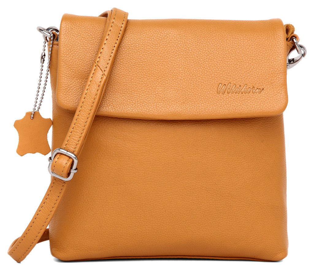 WILDHORN Genuine Leather Ladies Crossbody Bag | Hand Bag |Shoulder Bag with Adjustable Strap for Girls & Women. - WILDHORN
