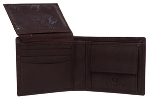 WildHorn® RFID Protected Genuine High Quality Leather Wallet & Belt Combo for Men - WILDHORN