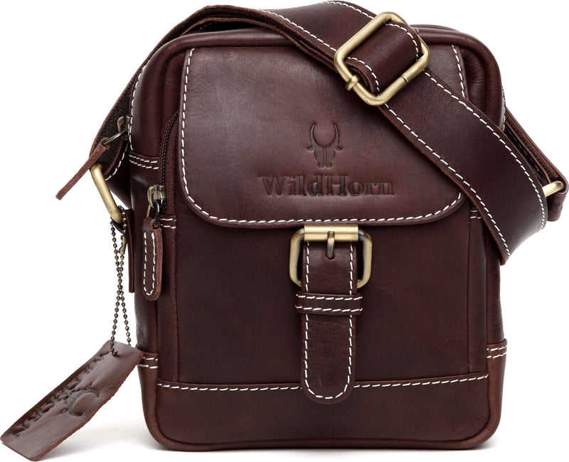 Wildhorn Genuine Vintage Leather Sling bag for men | Everyday Crossbody shoulder Work Sling Messenger Bag(MB209) - WILDHORN