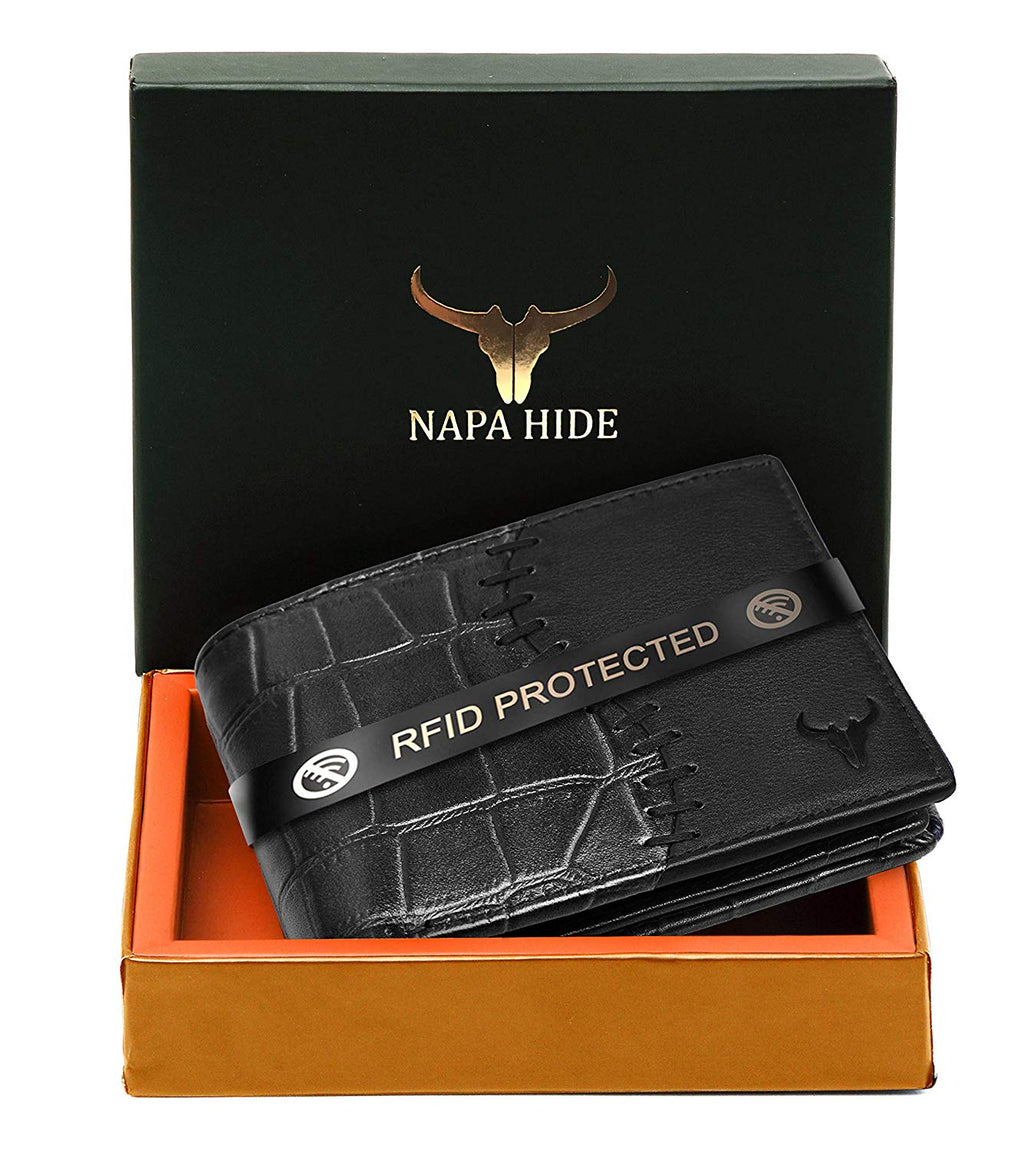 Napa Hide Black Men's Wallet (NPH0003 BLK) - WILDHORN
