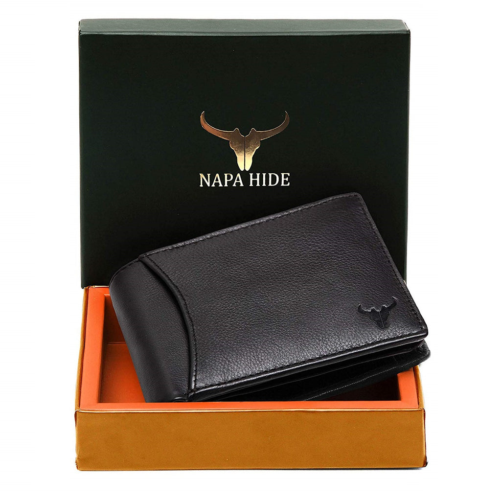 Napa Hide Black Men's Wallet (NPH001 Black) - WILDHORN