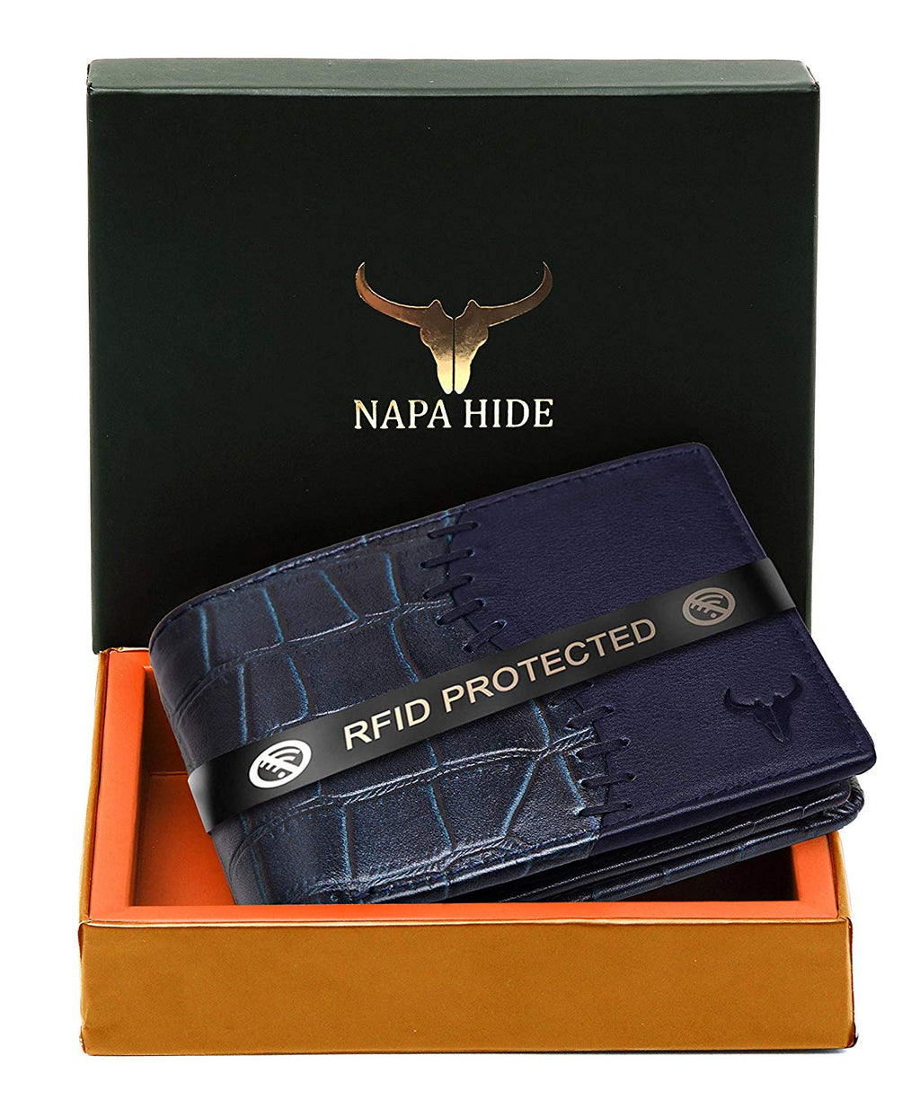 Napa Hide Blue Men's Wallet (NPH005 BLU) - WILDHORN