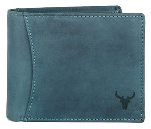 Napa Hide Blue Men's Wallet (NPH009 BLU HNTR) - WILDHORN