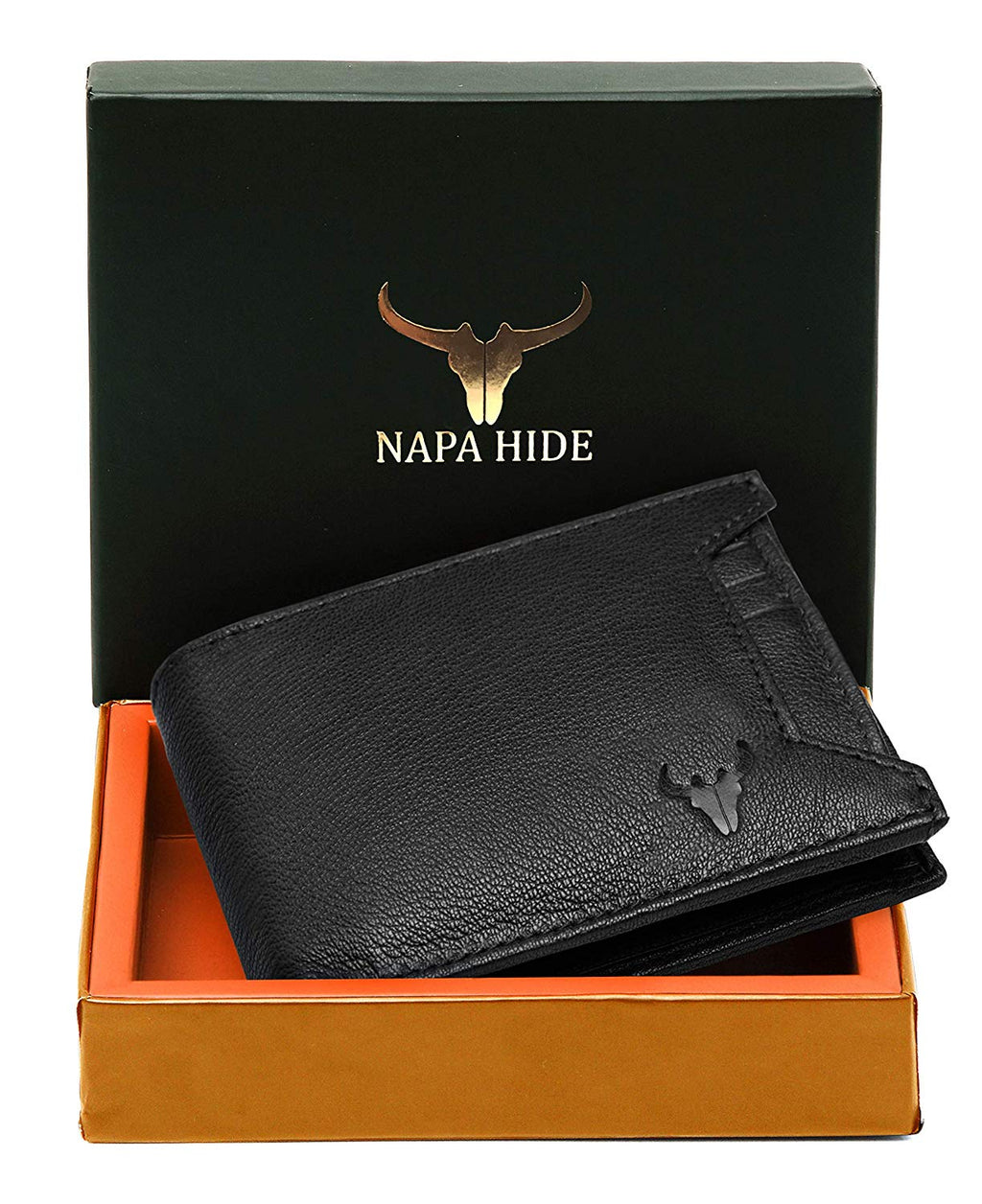 Napa Hide Black Men's Wallet (NPH011 BLK) - WILDHORN