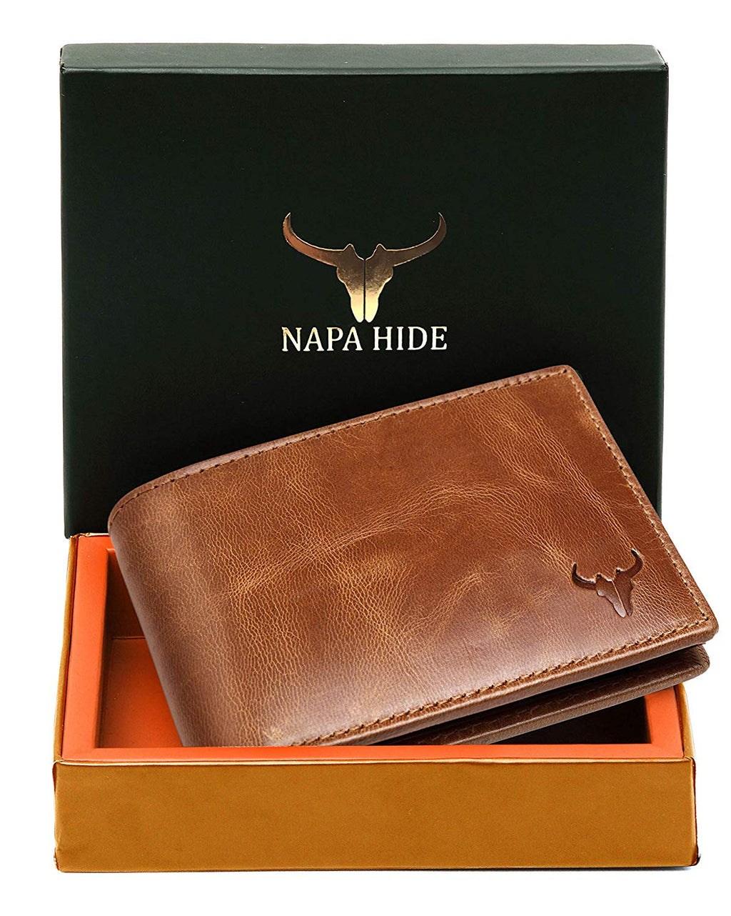 Napa Hide Brown Men's Wallet (NPH012 BRN TN) - WILDHORN