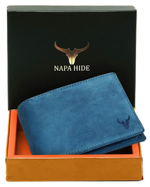 Napa Hide Blue Men's Wallet (NPH013 BLU HNTR) - WILDHORN