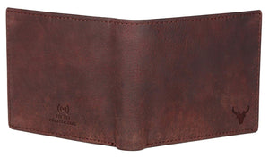 Napa Hide Brown Men's Wallet (NPH013 BRN Crackle) - WILDHORN