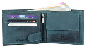 Napa Hide Men's 100% Genuine Leather Wallet & Belt Combo (NPHCOMBO007) - WILDHORN