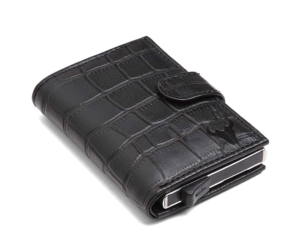 Napa Hide Black Men's Wallet (NPHCRD003 BLK) - WILDHORN