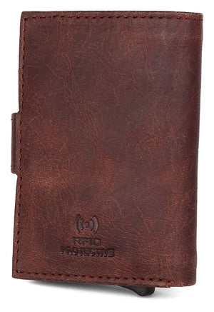 Napa Hide Brown Men's Wallet (NPHCRD004 Crackle) - WILDHORN