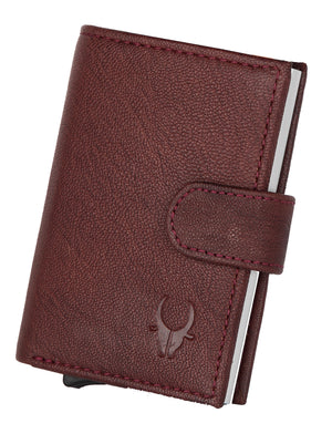 WildHorn® RFID Protected Unisex Genuine Leather Card Holder - WILDHORN