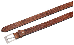 Casual 100% Genuine Leather Mens Leather Belt WHRH528 - TAN - WILDHORN