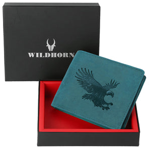 WILDHORN® Falcon Hunter Leather Wallet for Men