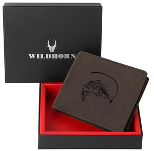 WILDHORN® Salmon Hunter Leather Wallet for Men
