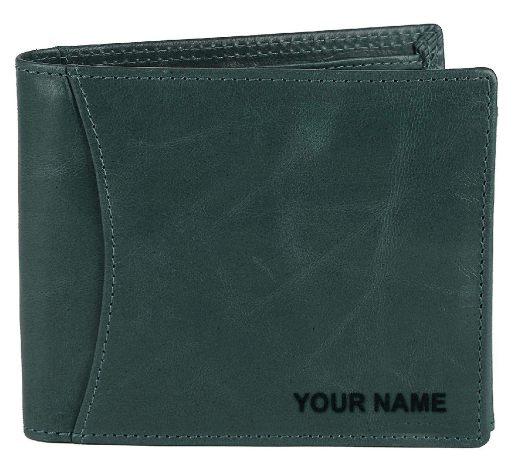 WildHorn® RFID Protected Custom Engraved Personalized High Quality Mens Leather Wallet for Gifting - WILDHORN