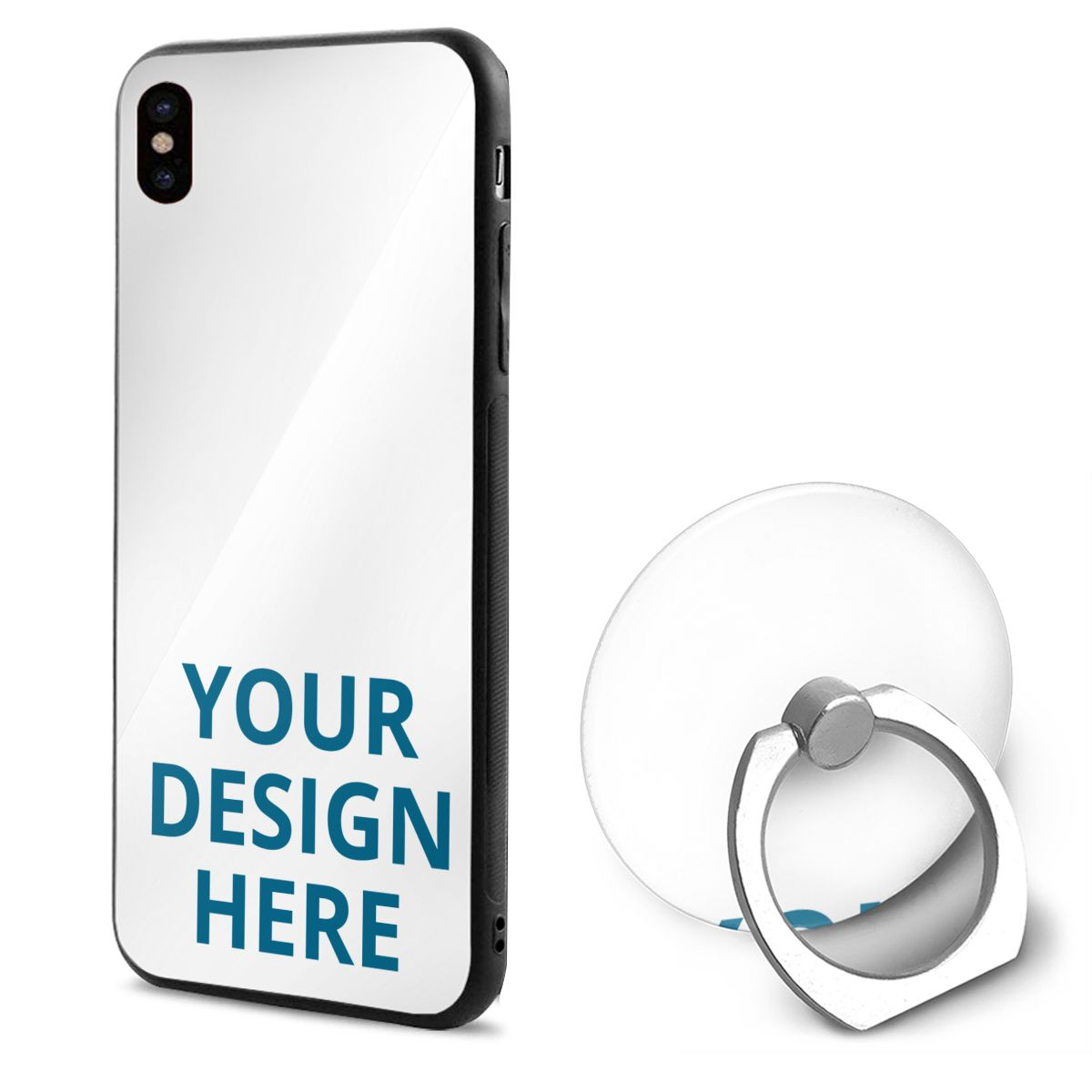 DIY Custom IPhone X Mobile Phone Shell Ring Bracket