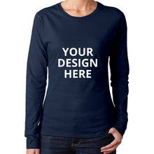 Load image into Gallery viewer, DIY Custom Women's Long Sleeve T-Shirts