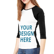 Load image into Gallery viewer, DIY Custom Women's Sleeve T-Shirt