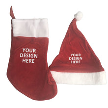 Load image into Gallery viewer, DIY Custom Christmas Stocking and Christmas hat