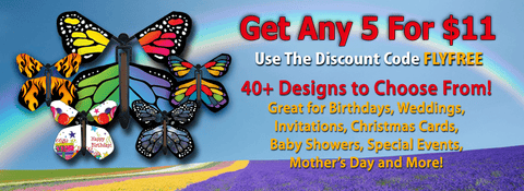 Any 5 Wind Up Flying Butterflies for $11