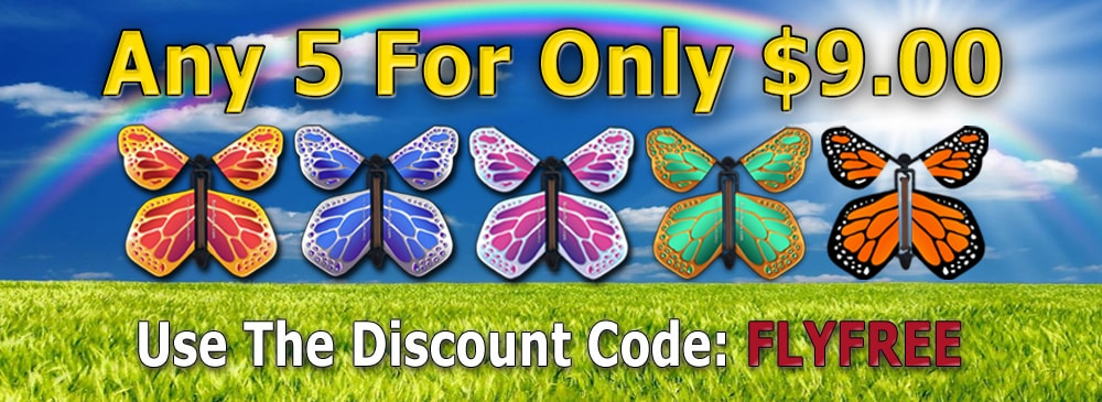 Any 5 Flying Butterflies Just $9.00