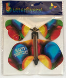 Birthday wind up flying butterfly