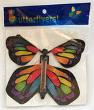 Stained Glass wind up flying butterfly