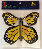 Yellow Monarch wind up flying butterfly