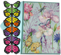 Blank Butterfly greeting card with wind up flying butterfly from butterflyers.com