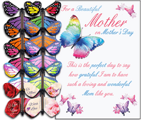 Mother's Day Card With Flying Butterfly