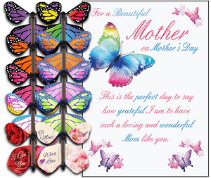 Mothers Day greeting card with wind up flying butterfly from butterflyers.com