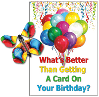 Birthday Card With Flying Butterfly