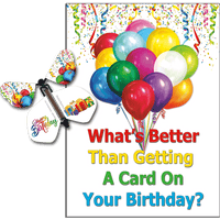 Birthday Greeting Card with Happy Birthday wind up flying butterfly from butterflyers.com