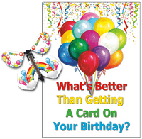 Birthday Greeting Card with Rainbow Birthday wind up flying butterfly from butterflyers.com