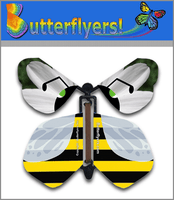 Bumble Bee Wind Up Flying Butterfly For Greeting Cards by Butterflyers.com