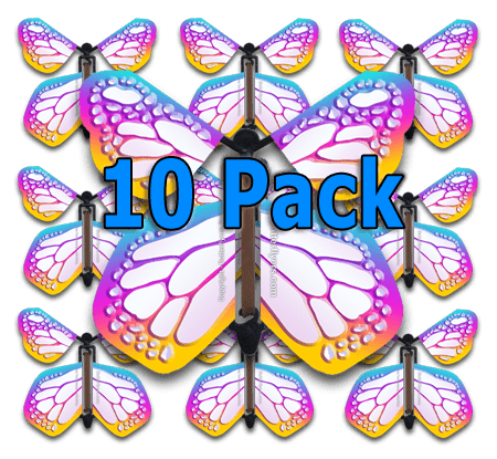 Bismuth Monarch Flying Butterfly (10 Pack)