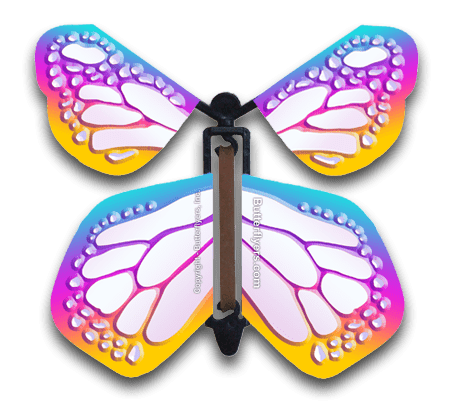 Bismuth Monarch Flying Butterfly
