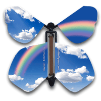 Blue Sky Rainbow Flying Butterfly