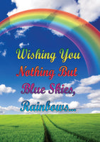 Blue Sky & Rainbows Greeting Card