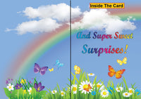 Blue Sky Rainbow greeting card from butterflyers.com
