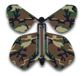 Cool Camo Wind Up Flying Butterfly